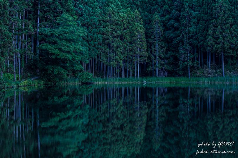 奈良・龍王ヶ淵の水鏡 早朝4