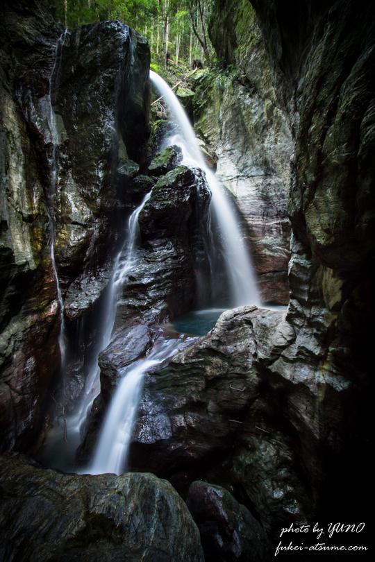 高知・中津渓谷最深部・雨竜の滝1