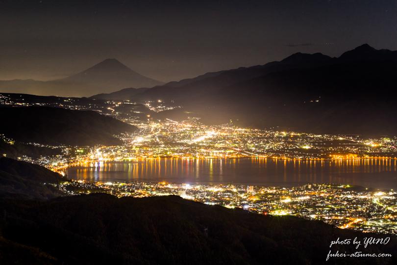 長野・高ボッチ高原・夜景