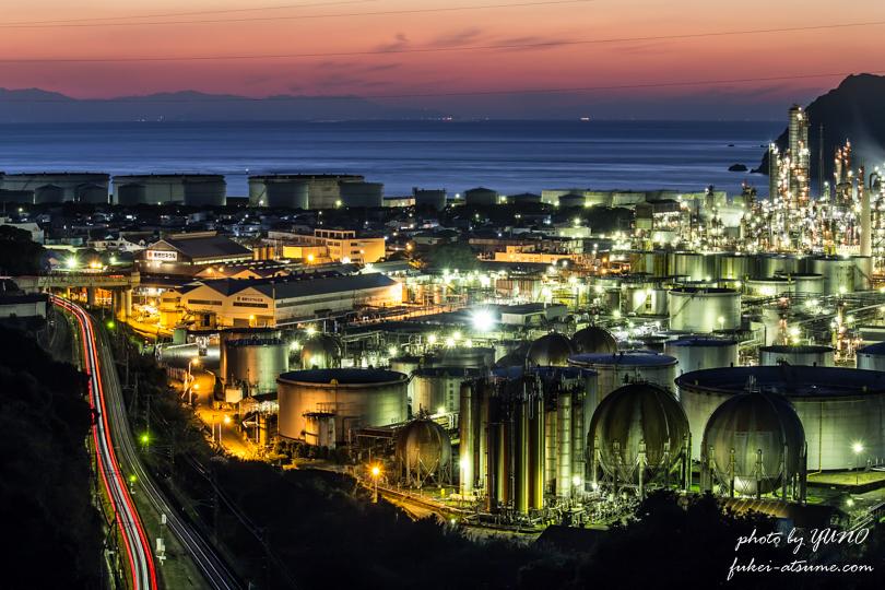 東燃ゼネラル石油 和歌山工場・夜景撮影1