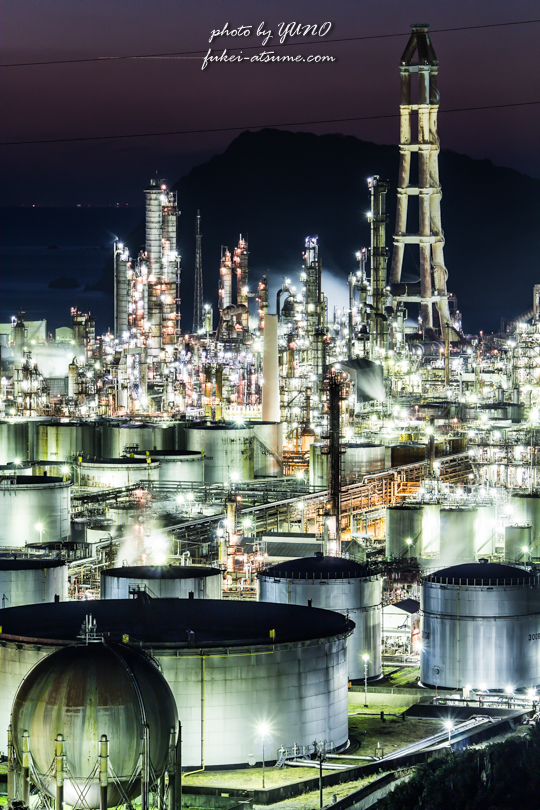 東燃ゼネラル石油 和歌山工場・夜景撮影2
