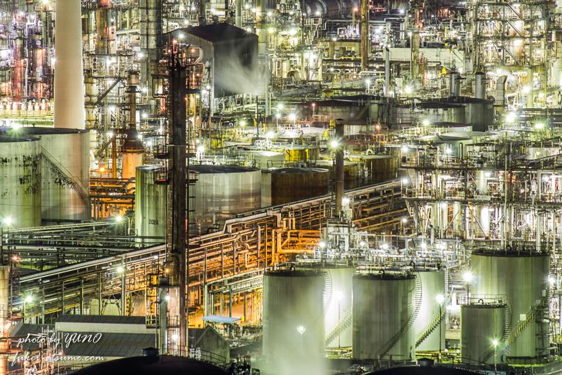 東燃ゼネラル石油 和歌山工場・夜景撮影3