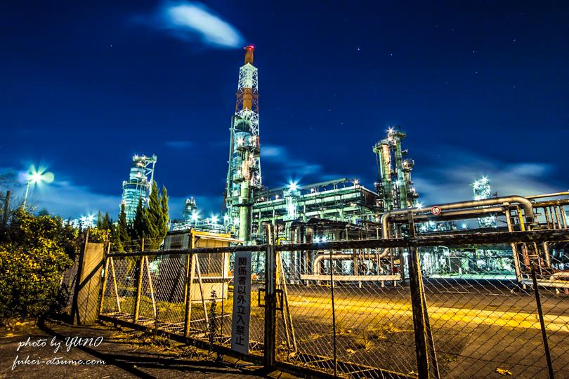 大阪・堺泉北臨海工業地帯・工場夜景撮影2