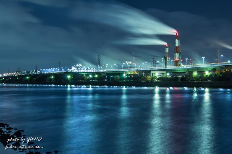 大阪・堺泉北臨海工業地帯・工場夜景撮影3