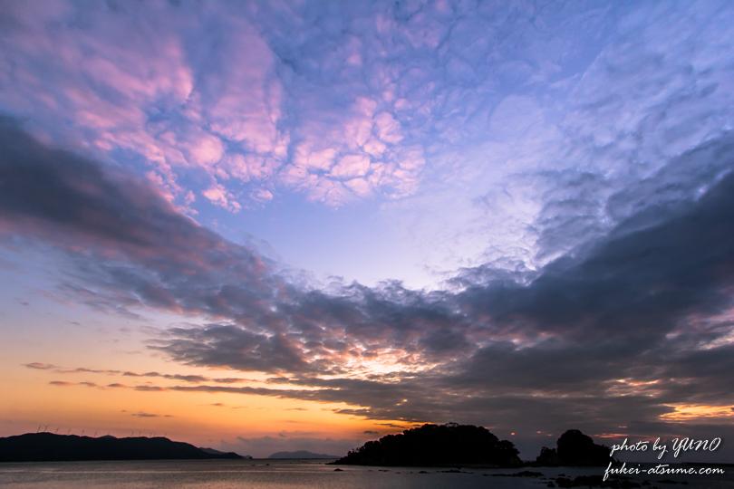 空・冬空・夕焼け・海・撮影