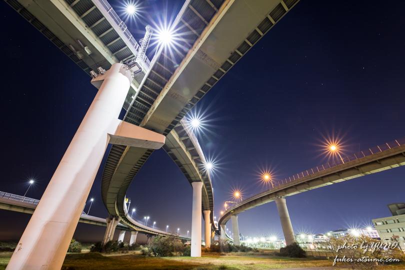 大阪・りんくうジャンクション・夜景撮影