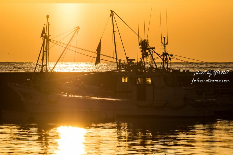 【高知】宿毛市藻津(むくず)漁港・夕景1