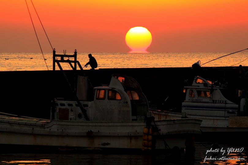 【高知】宿毛市藻津(むくず)漁港・夕景・第17回宿毛湾だるま夕日及び宿毛の四季フォトコンテスト