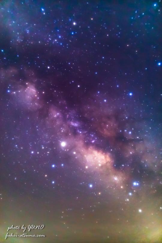 天の川・銀河・星空・星景・奈良・御杖村・みつえ高原牧場1