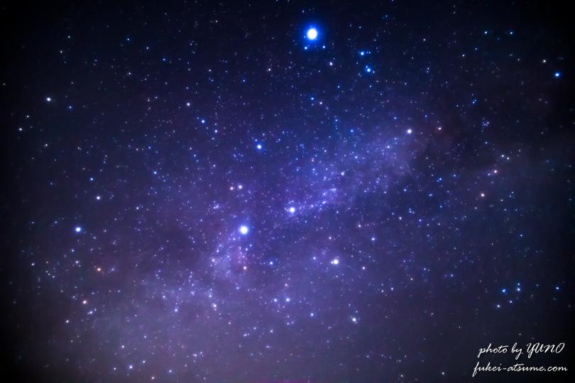 天の川・銀河・星空・星景・奈良・御杖村・みつえ高原牧場2