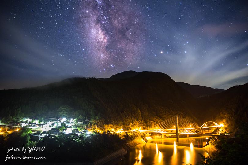 奈良・川上村・星空・星景・天の川・梅雨空・夜景