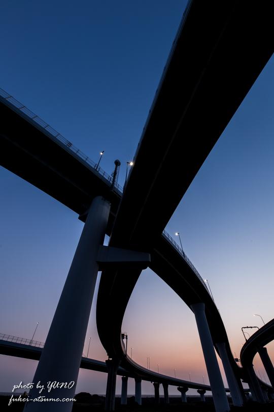 大阪・りんくうジャンクション・JCT・夜景・夜明け・日の出・早朝・一眼レフ撮影2