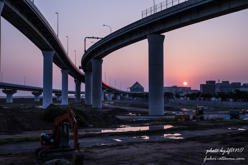 大阪・りんくうジャンクション・JCT・夜景・夜明け・日の出・早朝・一眼レフ撮影4