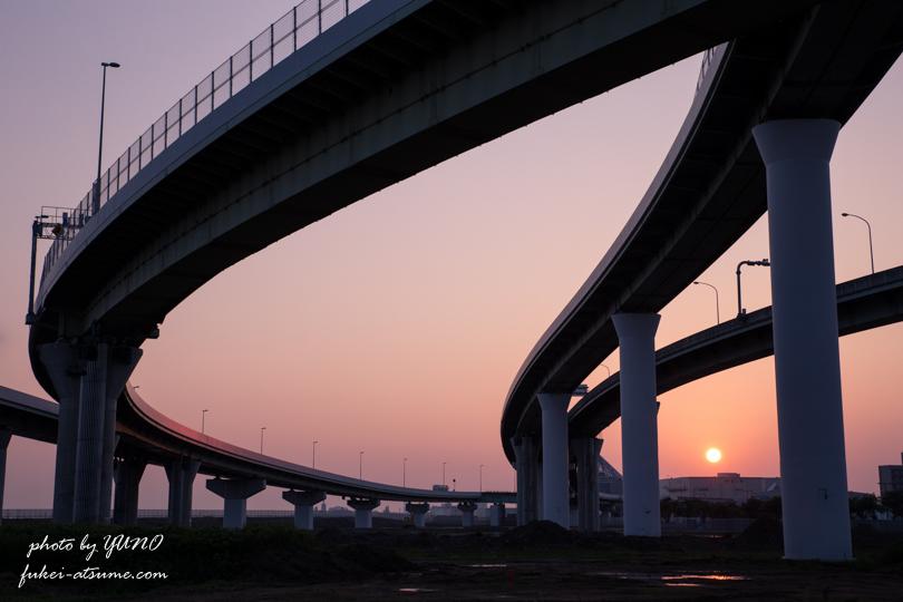 大阪・りんくうジャンクション・JCT・夜景・夜明け・日の出・早朝・一眼レフ撮影5