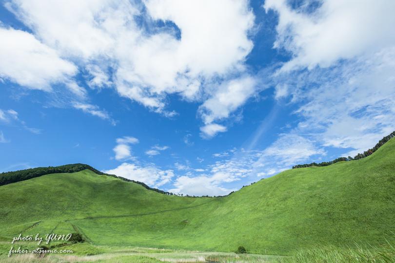 奈良・曾爾高原・夏・緑・草原・夏空・青空・風景撮影2
