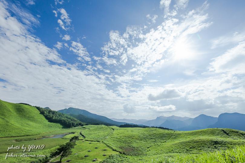 奈良・曾爾高原・夏・緑・草原・夏空・青空・風景撮影5