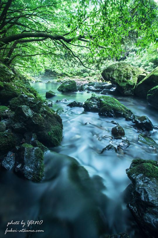 渓流・清流・涼を求めて・涼風・川のせせらぎ