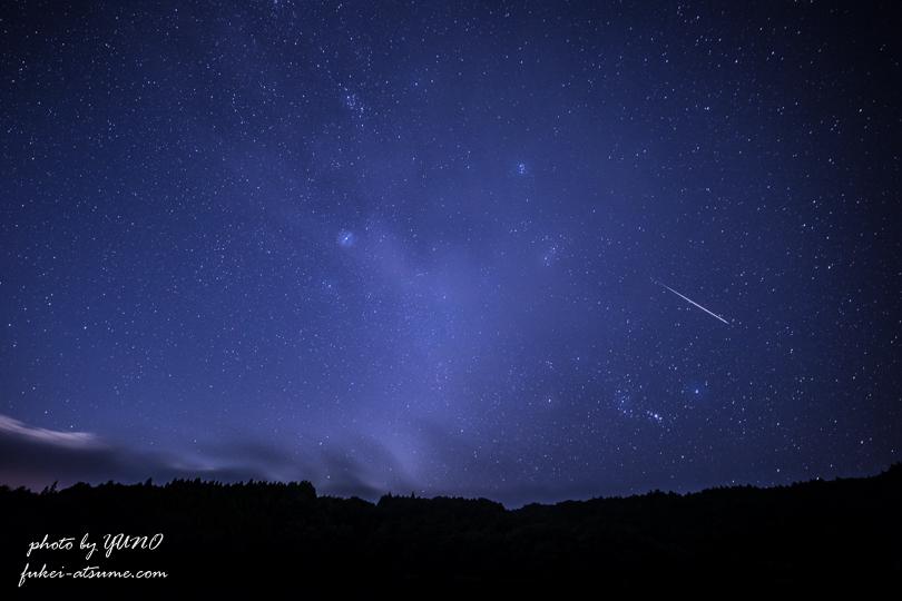 ペルセウス座流星群2018・星空撮影・星景2