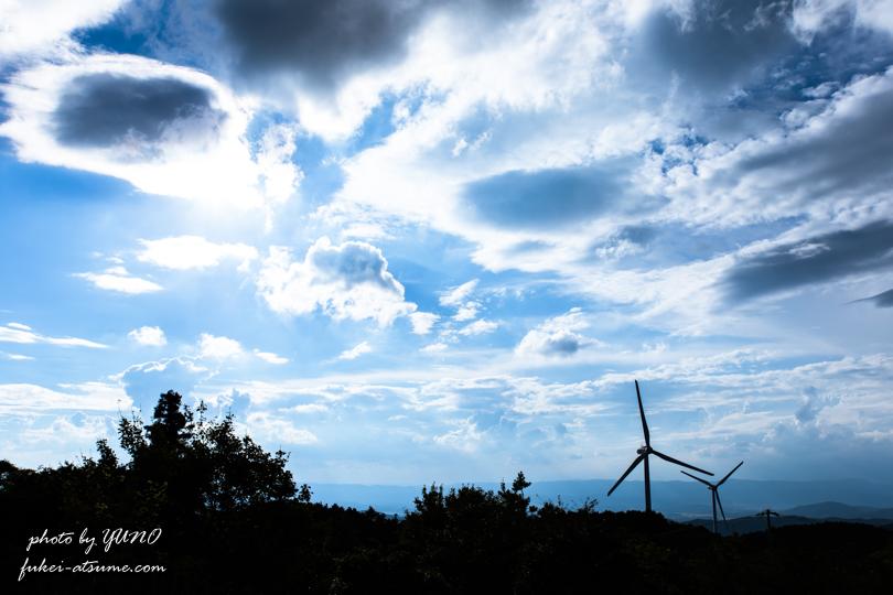三重県・伊賀市・津市・青山高原・風車・風の集まる場所3