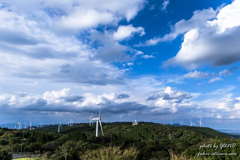 三重県・伊賀市・津市・青山高原・風車・風の集まる場所1