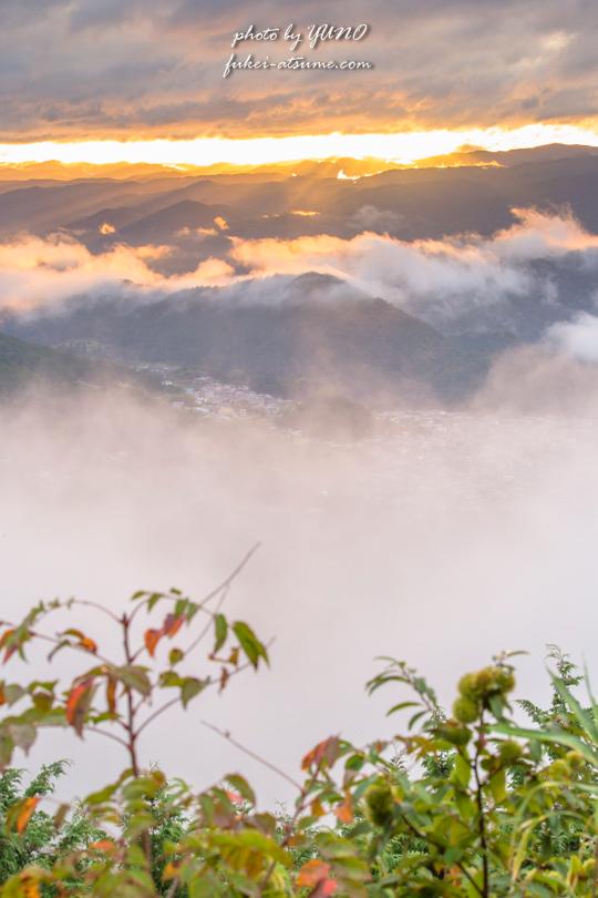 雲海・燃える・赤く染まる・日の出・朝日・風景写真撮影3