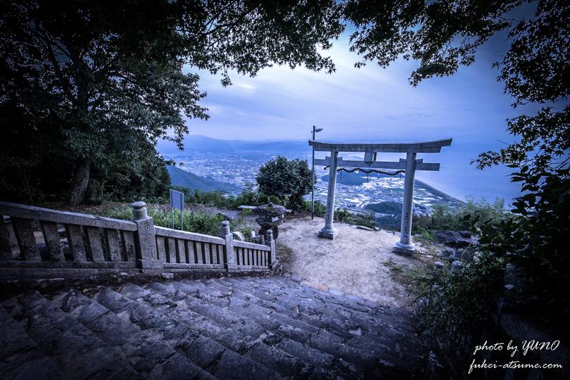 香川県観音寺市・高屋神社 ・天空の鳥居・稲積神社・空を感じる場所・風景写真