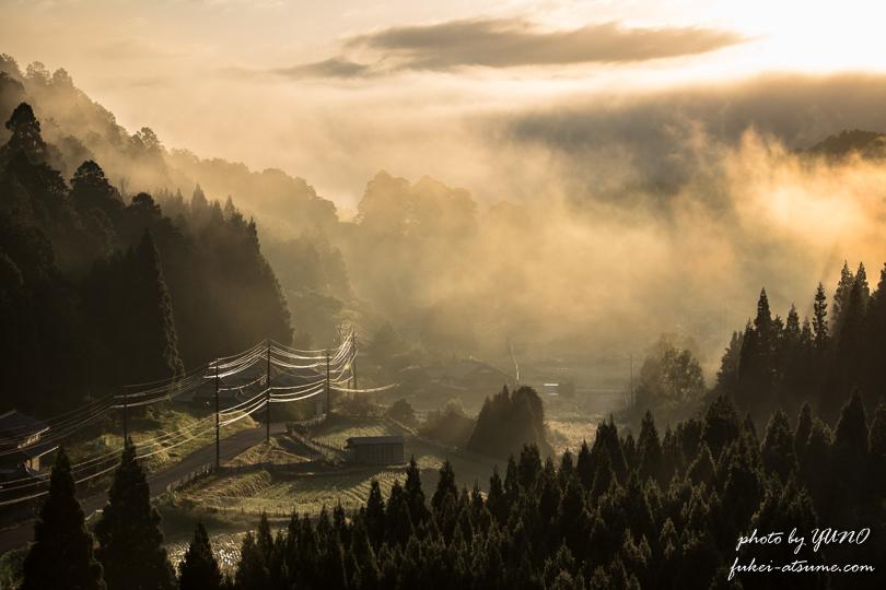 日の出・朝日・朝景・霧・雲海・風景写真・朝焼け・夜明け・CanonEOS6D