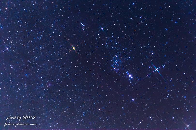 オリオン座・冬の大三角形・星空・星景・CanonEOS6D2