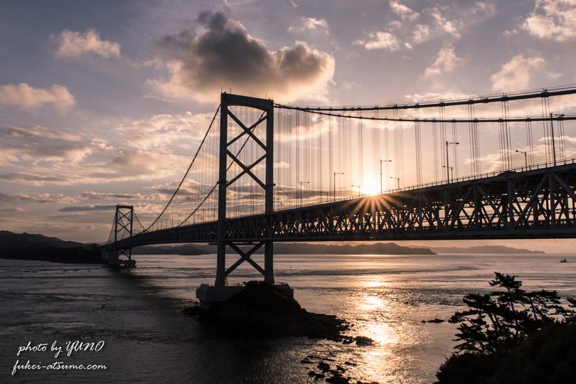 徳島・淡路島・大鳴門橋・朝日・日の出・早朝・鳴門公園