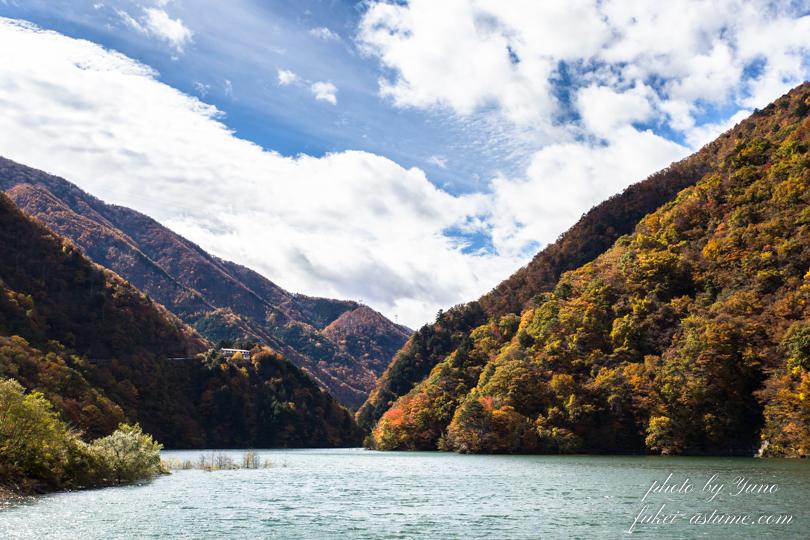 長野県松本市・国道158号線沿い・梓川渓谷・水殿ダム・紅葉3