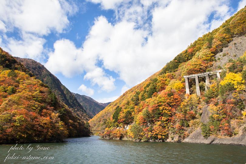 長野県松本市・国道158号線沿い・梓川渓谷・水殿ダム・紅葉1