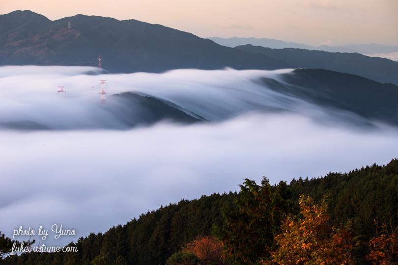 奈良・雲海・滝のように・紅葉・夜明け・日の出・朝焼け・朝日・早朝・風景3