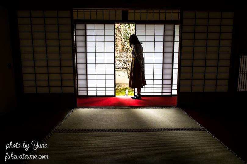 京都・雲龍院・静寂・人物・ポートレート・初冬