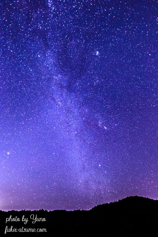 夜景・冬の星空・星景・満天の星空・星屑・奈良