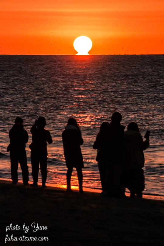 2019年だるま初日の出・だるま朝日・2019年初日の出・愛知県恋路ヶ浜・伊良湖岬