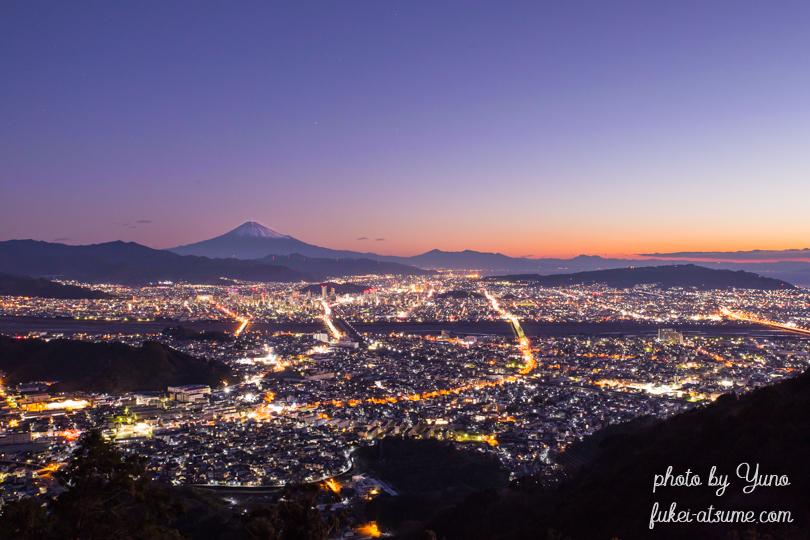 静岡県・富士山・夜景・トワイライト・夜明け・マジックアワー・黎明・絶景1