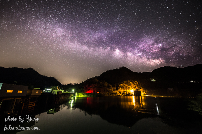 徳島県勝浦郡・正木ダム・天の川・星空・星景・milkyway・満天の星・銀河