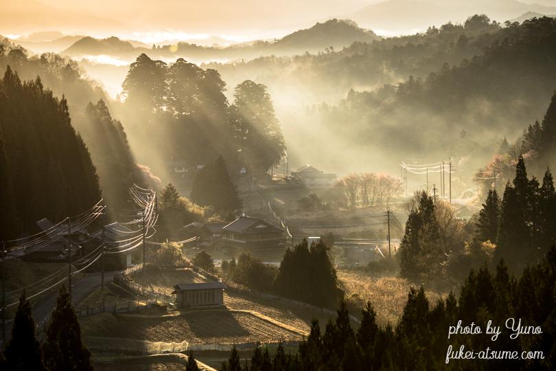 奈良・宮奥ダム・日の出・夜明け・光芒・霧3
