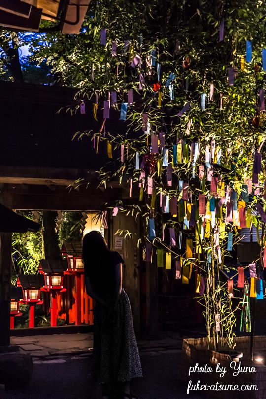 京都・貴船神社・七夕笹飾りライトアップ・夜景・短冊・願い事・そうだ京都行こう