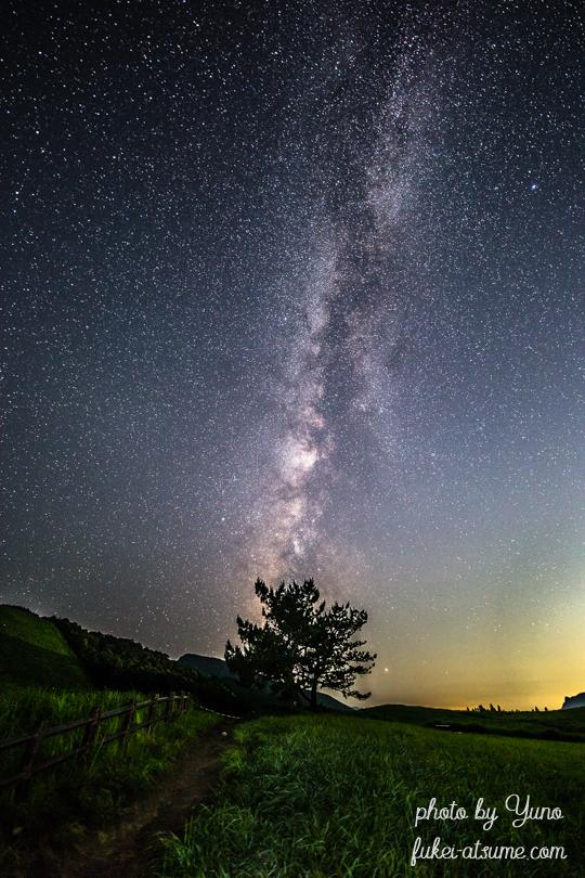 奈良県・曽爾高原・星空・星景・天の川・milkyway・夏