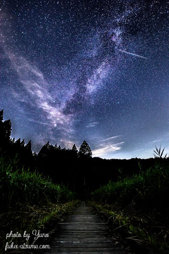 流れ星・流星・星空・星景・天の川・milkyway
