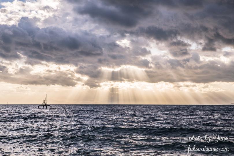 天使のはしご・レンブラント光線・薄明光線・光芒・琵琶湖