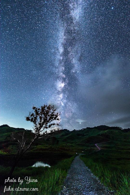 兵庫県・砥峰高原・星空・星景・天の川