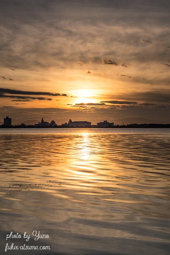 琵琶湖・朝日・日の出・夜明け