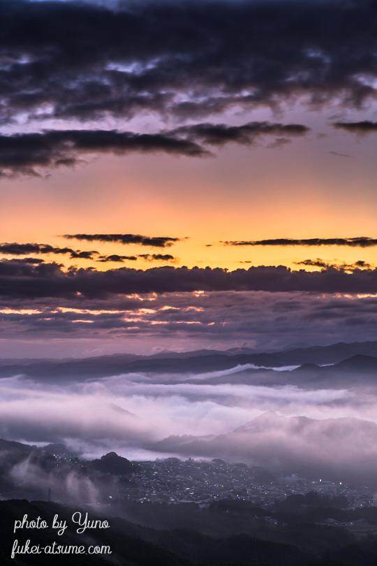 奈良・雲海・夜明け・日の出前