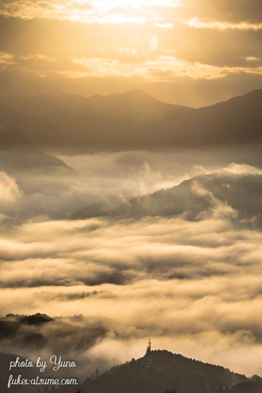 奈良・雲海・太陽・朝陽