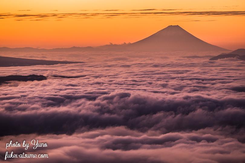 長野・高ボッチ高原・雲海・富士山・夜明け・日の出・朝陽・夜景・諏訪湖・朝焼け・霧3
