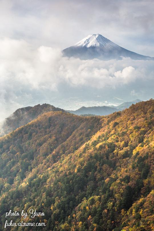 山梨県都留市西桂町・富士河口湖町・三ッ峠山・雲海・富士山・紅葉・絶景・雲の上2