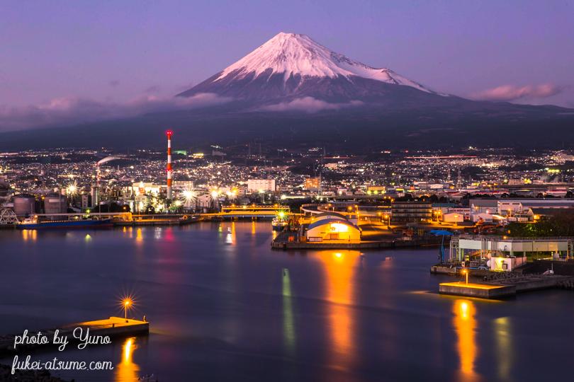 静岡県富士市・ふじのくに田子の浦みなと公園・富士山・田子の浦港・夜景2