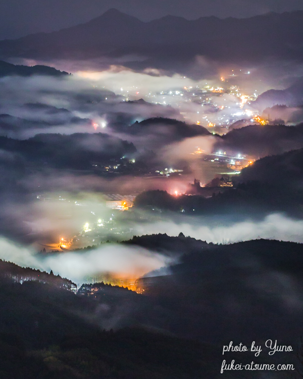 奈良・夜景・雲海・霧3